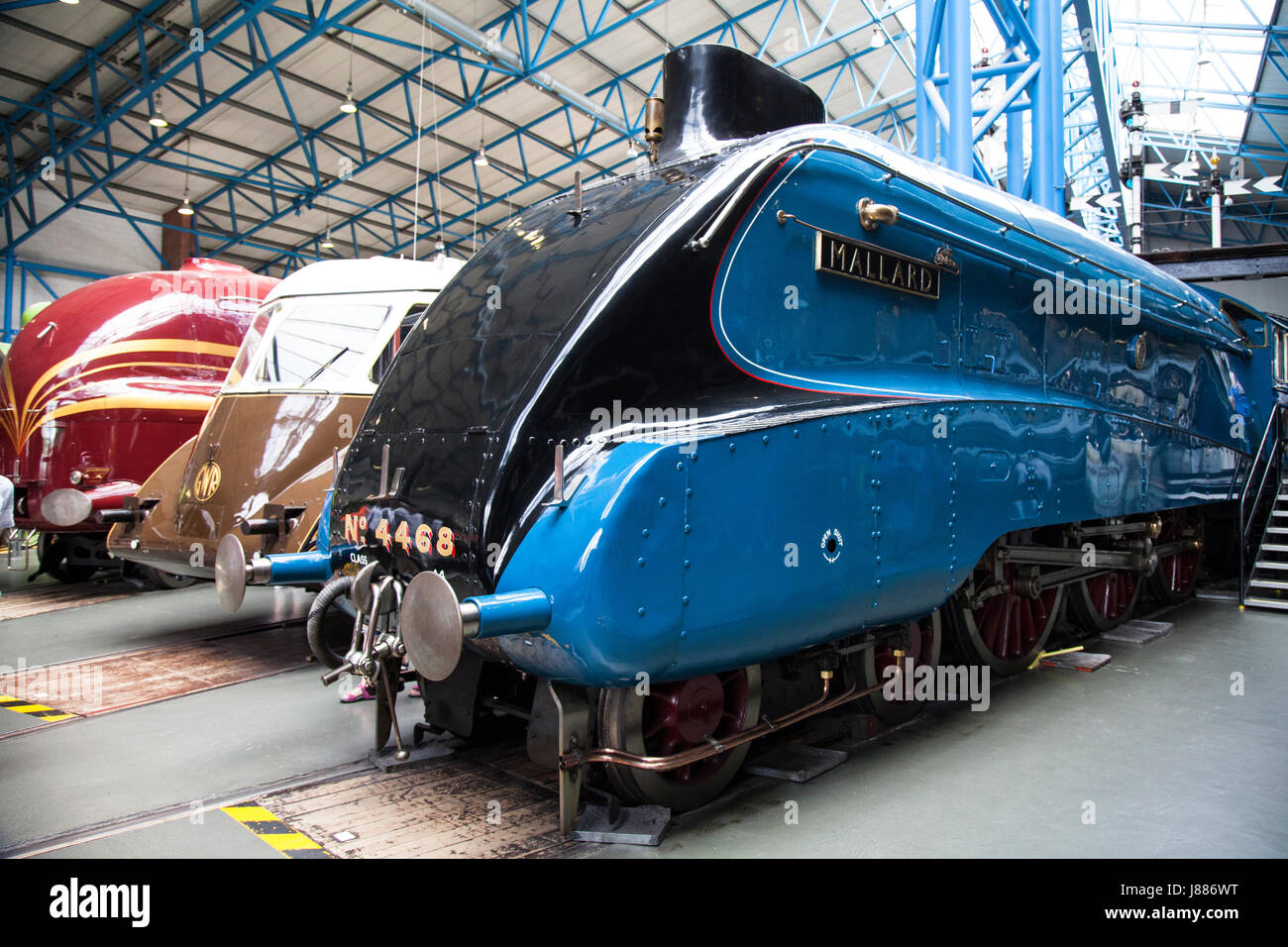 The Mallard Steam Train that on 3rd July 1938 achieved the world speed record for steam traction of 126 mph National - Stock Image