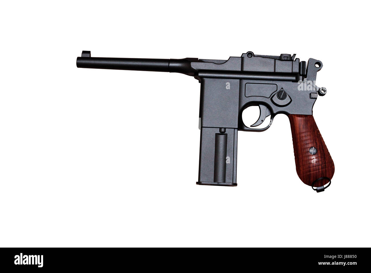 Pistol Of The First World War The Weapon Revolver Isolate