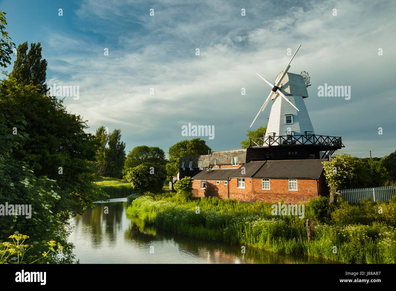 Spring afternoon at Gibbet Mill in Rye, East Sussex, England. - Stock Image