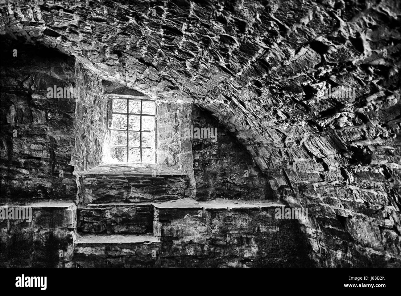 A cellar of an old castle, Germany, Europe - Stock Image