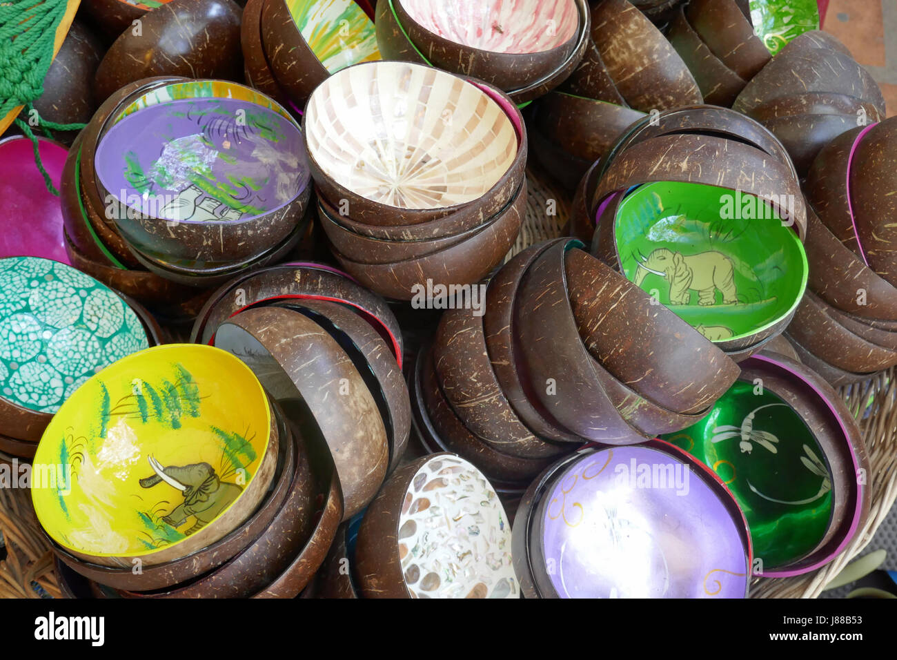Little bowls on sale at Siem Reap, Cambodia - Stock Image