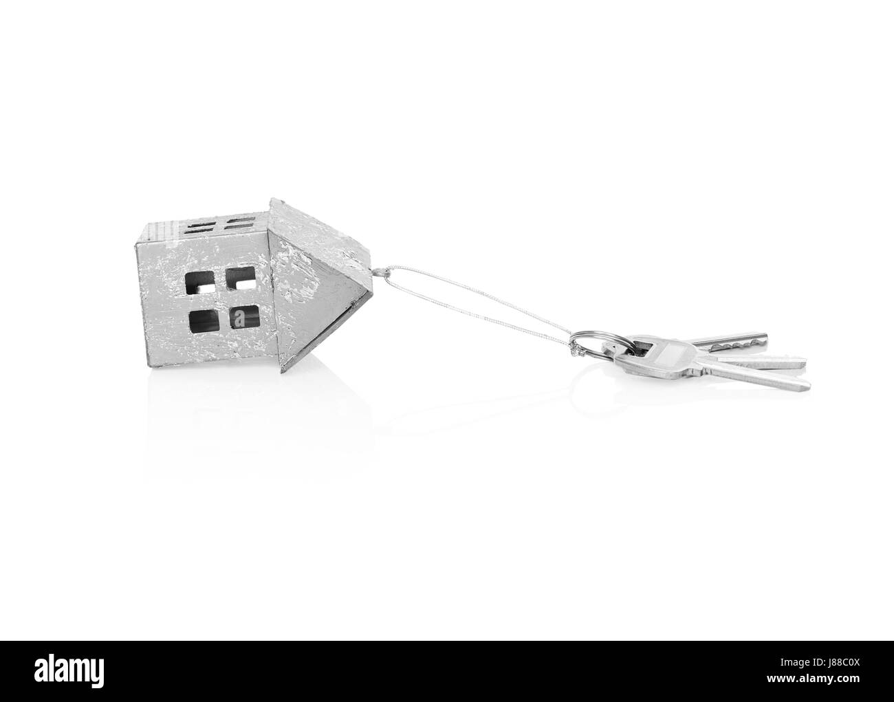 Layout of a house with keys - Stock Image