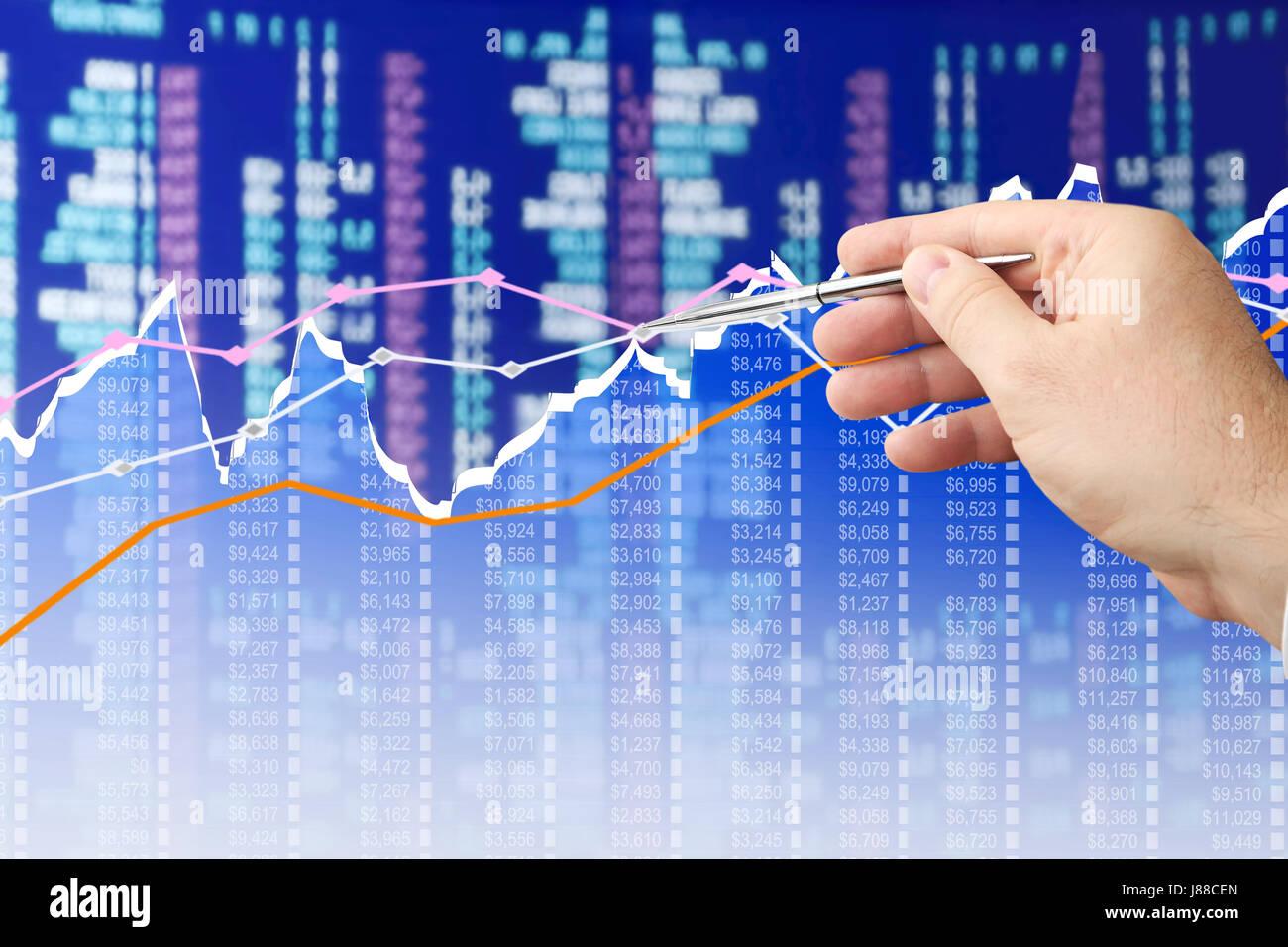 Analyzing Diagram - Stock Image