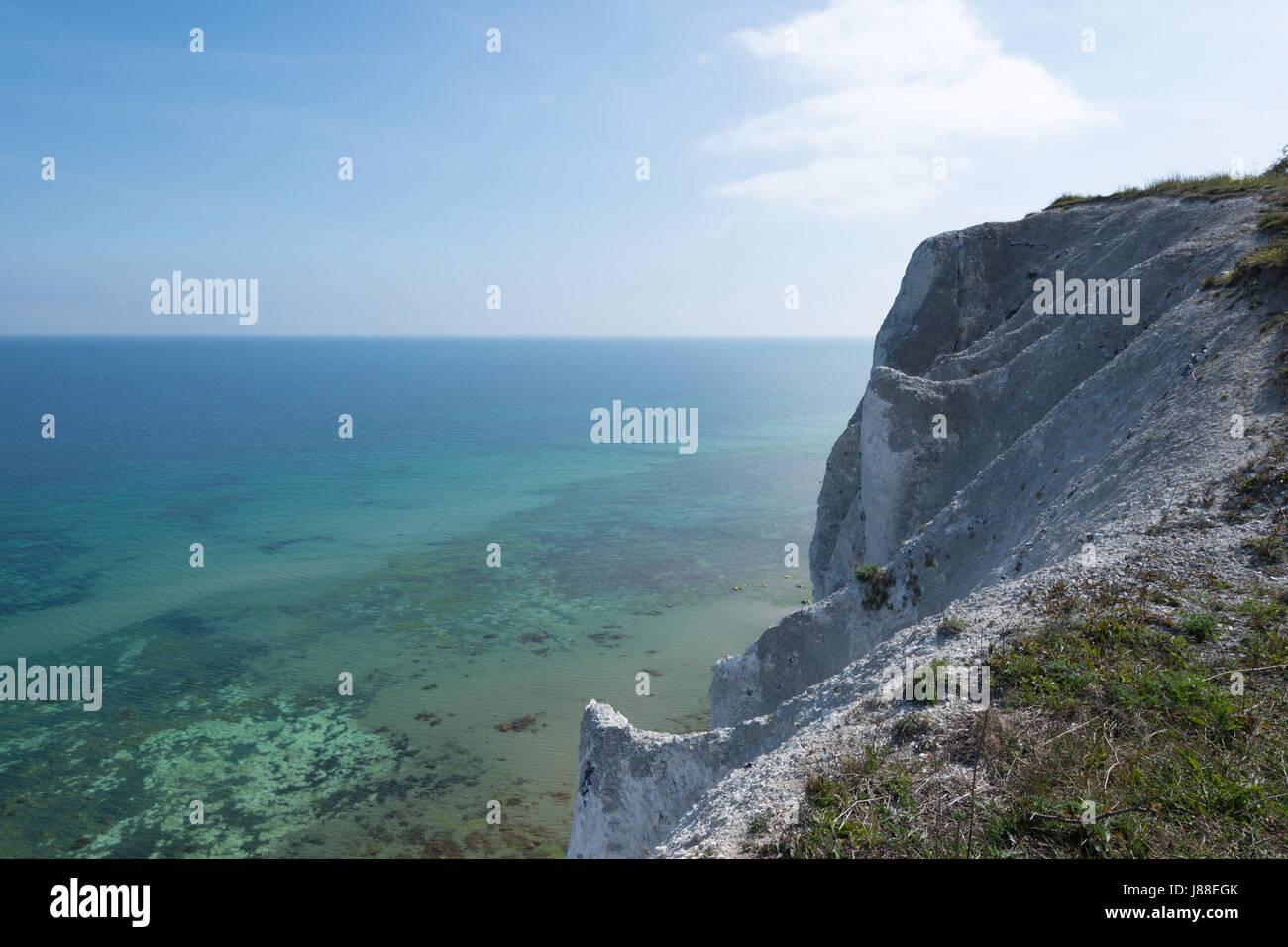Møns Klint chalk cliffs, Møn Island, Denmark, Europe Stock Photo