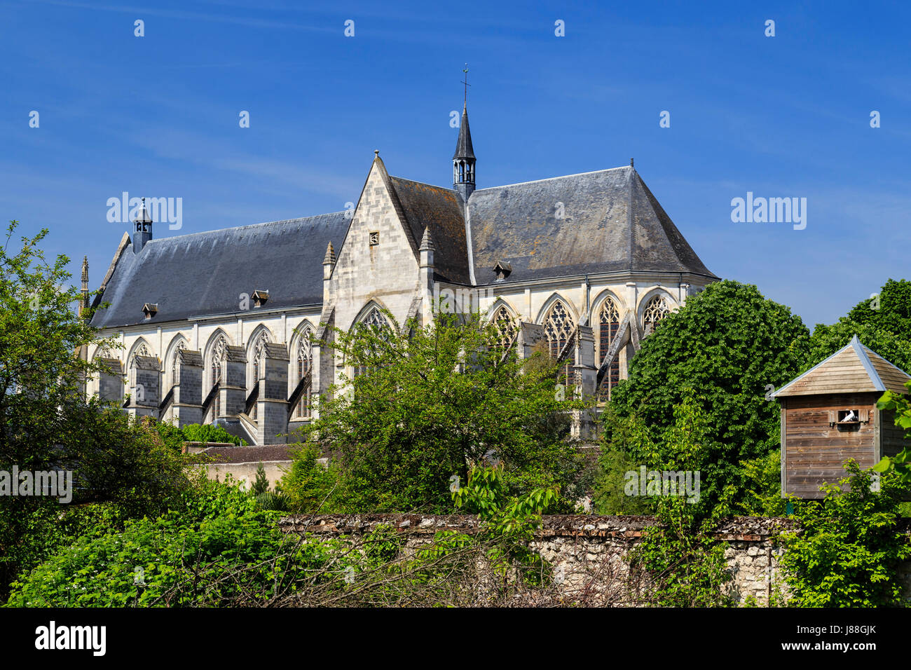 France, Loiret, Clery-Saint-Andre, the Basilica of Our Lady of Clery - Stock Image