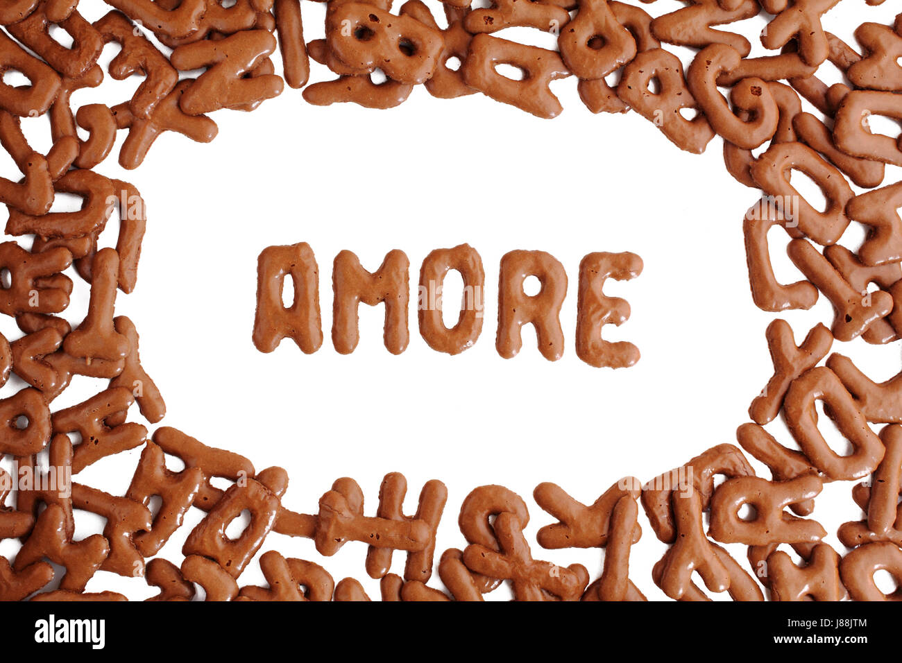 amore with russian bread - Stock Image