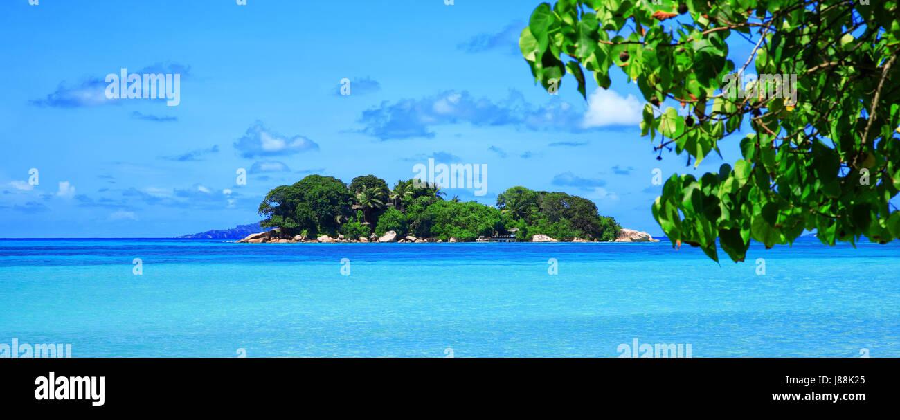 Island Chauve Souris, Island Praslin. Republic of Seychelles. Stock Photo