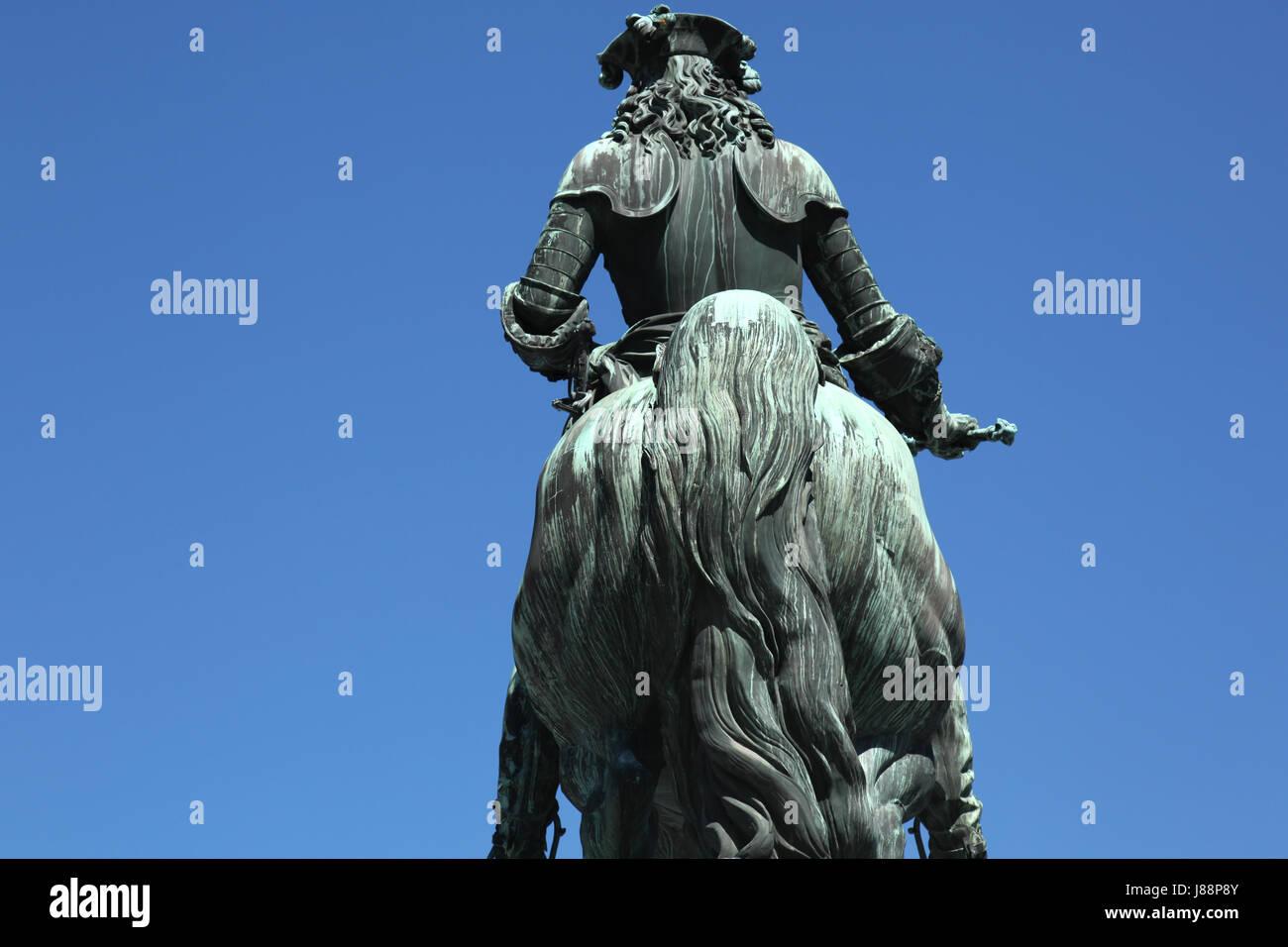 prinz eugen reiterdenkmal heldenplatz vienna - Stock Image