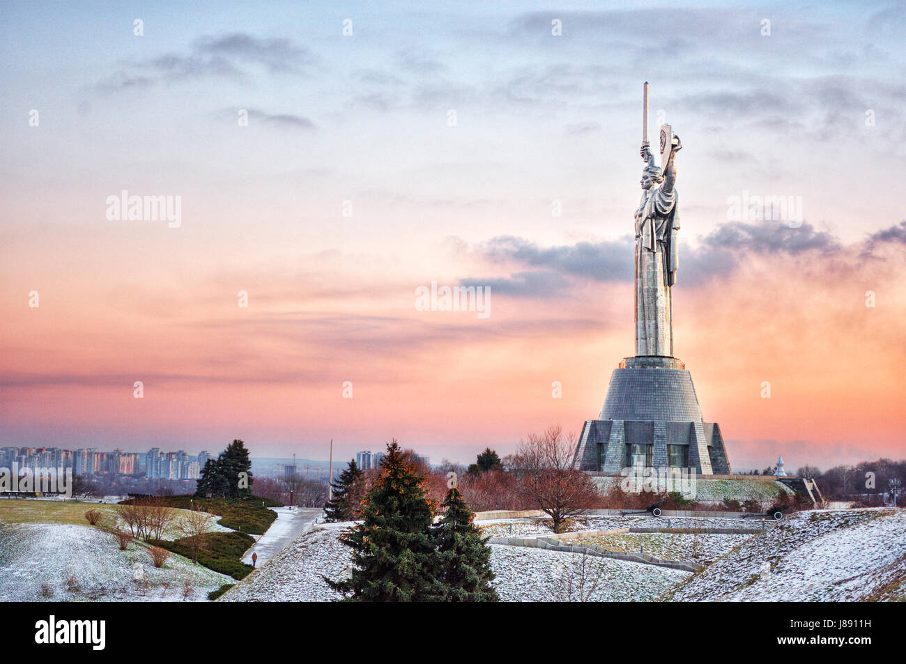 Motherland Monument in Kiev (Ukraine) - Stock Image