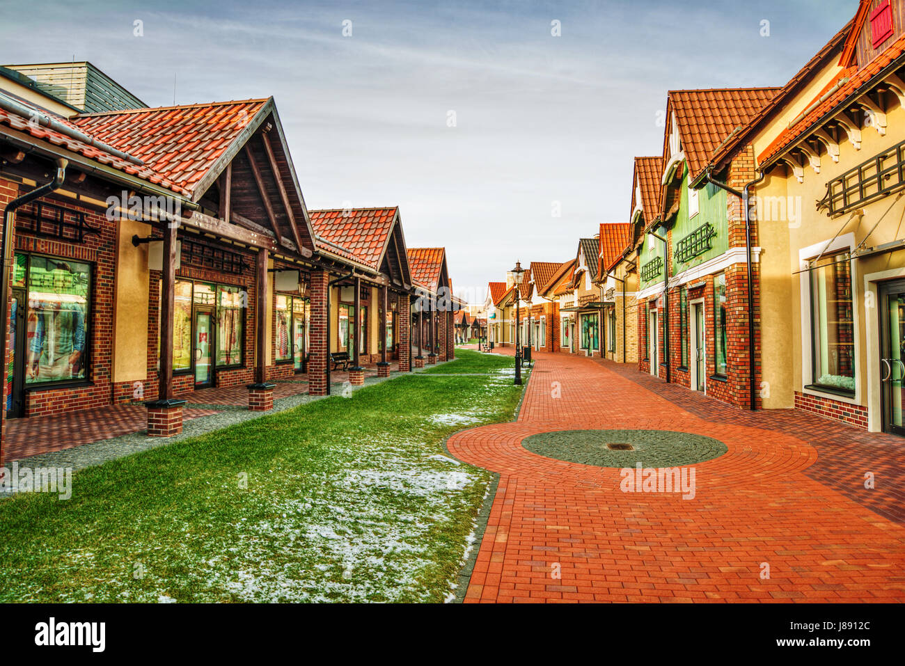 Outlet village in Kiev (Ukraine) called Manufactura, HDR-technique - Stock Image