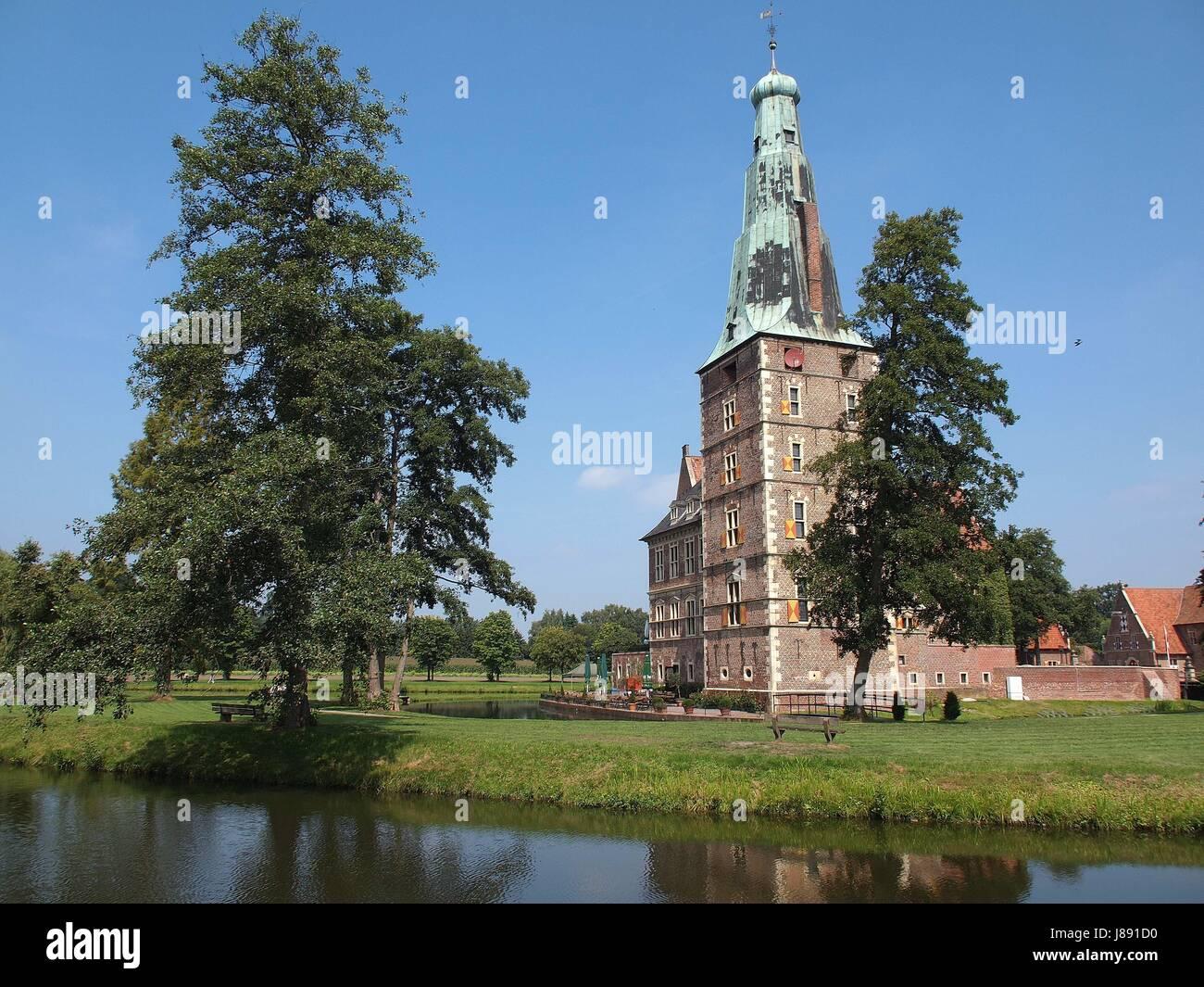water, nature, tower, bridge, bridges, locksmith, castle-moat, chateau, castle, Stock Photo