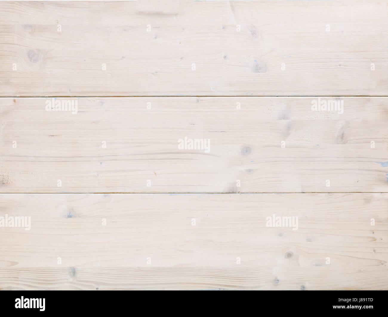 White wooden horizontal planks texture as background - Stock Image