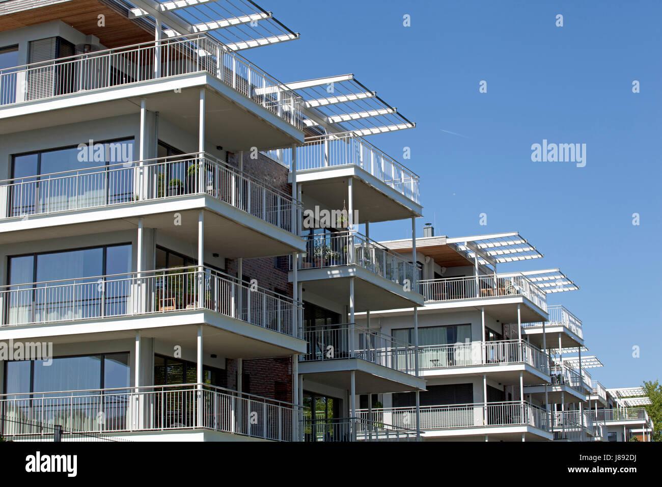 modern residential building in kiel holtenau Stock Photo