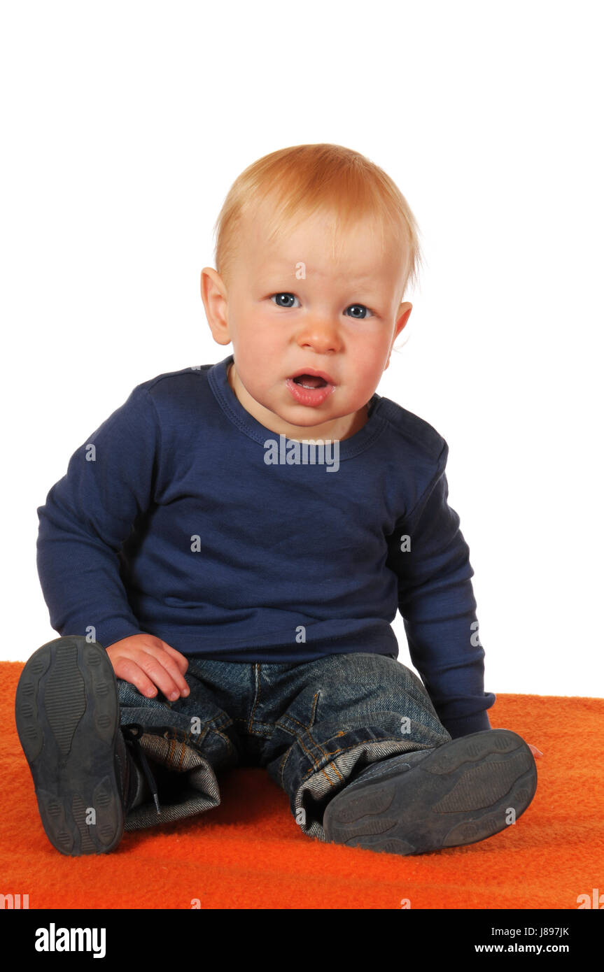 baby, young, younger, child, toddler, isolated, scrabble, crawling, mouth, Stock Photo