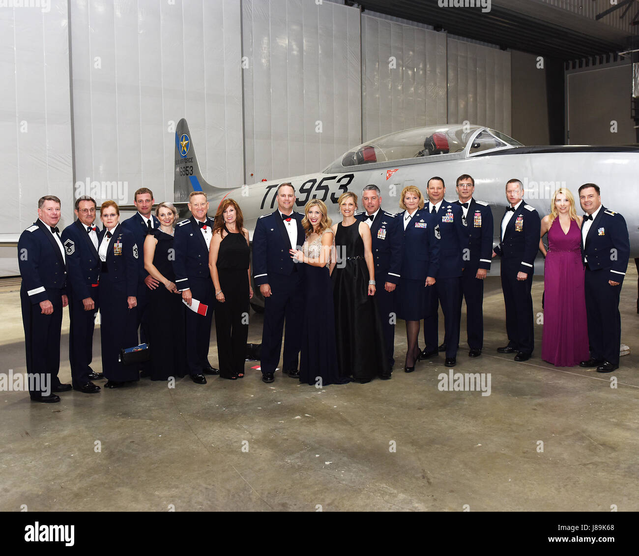 Members of the 147th Attack Wing, 149th Fighter Wing, and Texas Military Department Leadership attend a gala at - Stock Image