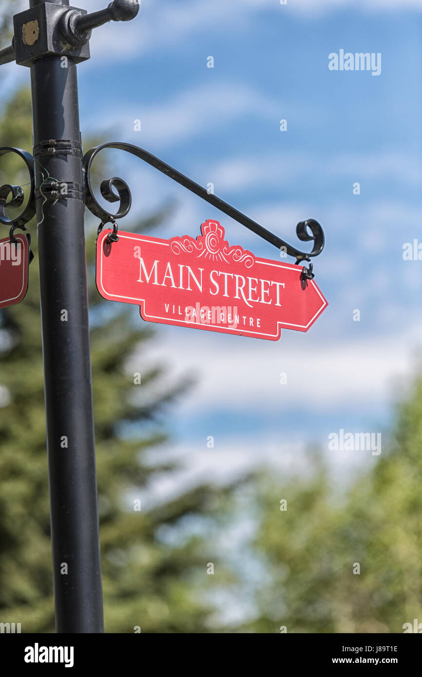 Vintage Main Street sign - Stock Image