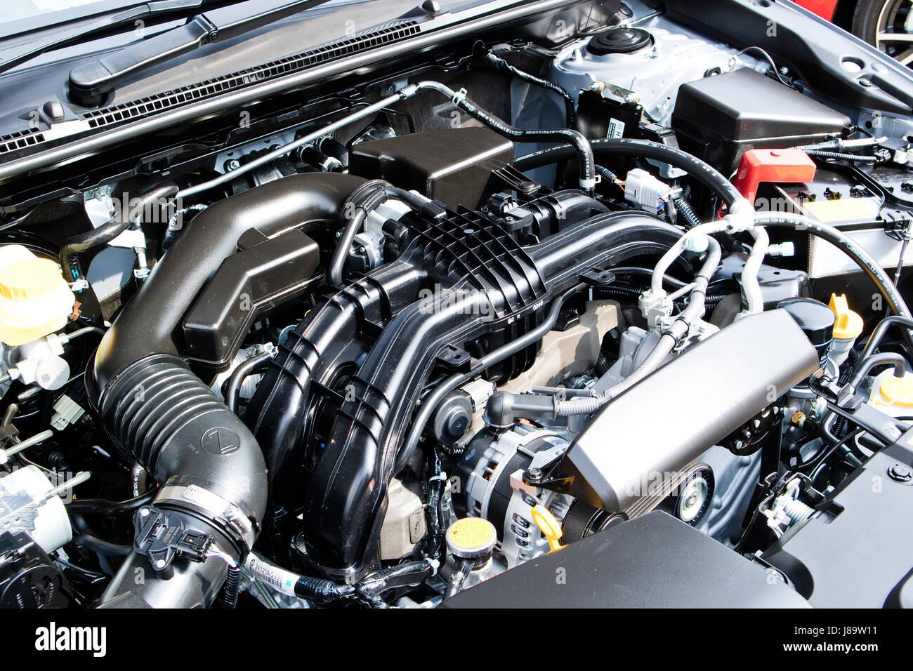 Hong Kong China Jan 13 2017 Subaru Impreza 2017 Engine On Jan 13