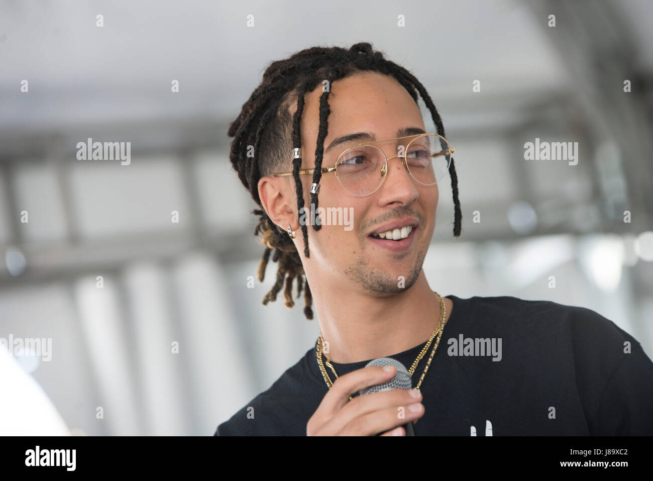 Ghali Amdouni An Italian Rapper Of Tunisian Origins Presents His Album Album And Meet Fans At The Le Due Torri Shopping Center In Stezzano Bergamo