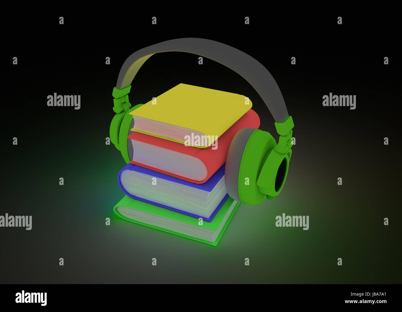 stack, abstract, audio, book, illustration, glow, digital, stack, data, - Stock Image