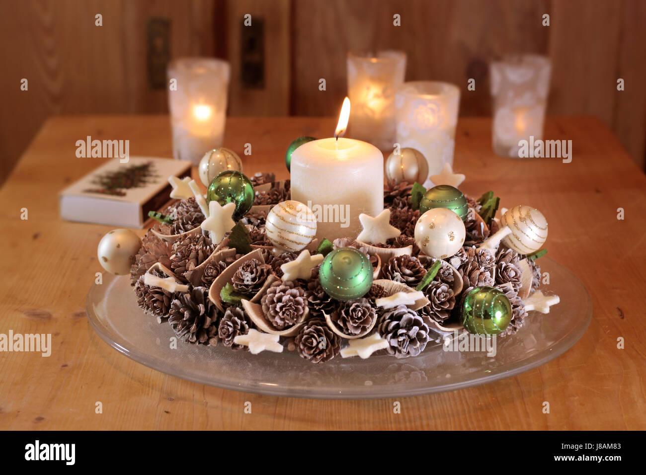 Wood Advent Decoration Christmas Decorations Advent Wreath Stock Photo Alamy
