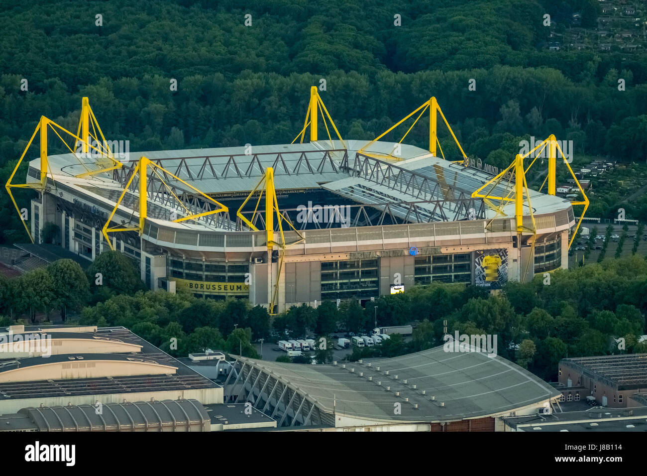 Aerial View Westfalenstadion Stadium Bvb Stock Photos
