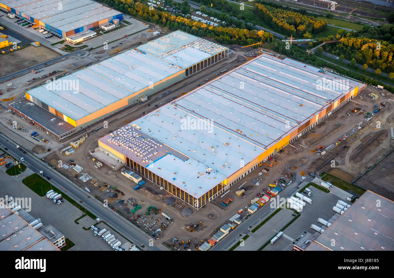 Amazon logistics, new building on the site of Westfalenhütte, internet trade, warehouse, distribution warehouse, - Stock Image