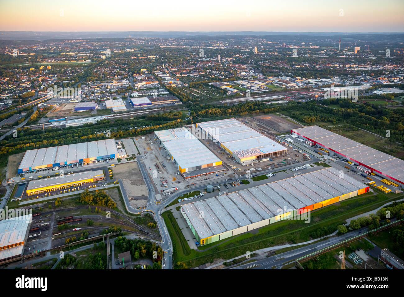 Amazon logistics, new building on the site of Westfalenhütte, internet trade, warehouse, distribution warehouse, - Stock Image