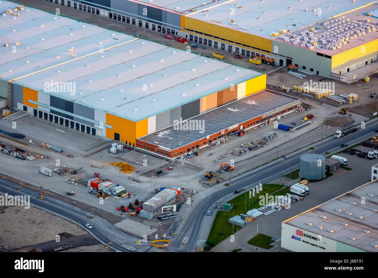 Amazon Logistik, Hallenneubau auf dem Areal der Westfalenhütte, Internethandel, Warenlager, Verteillager, Dortmund, - Stock Image