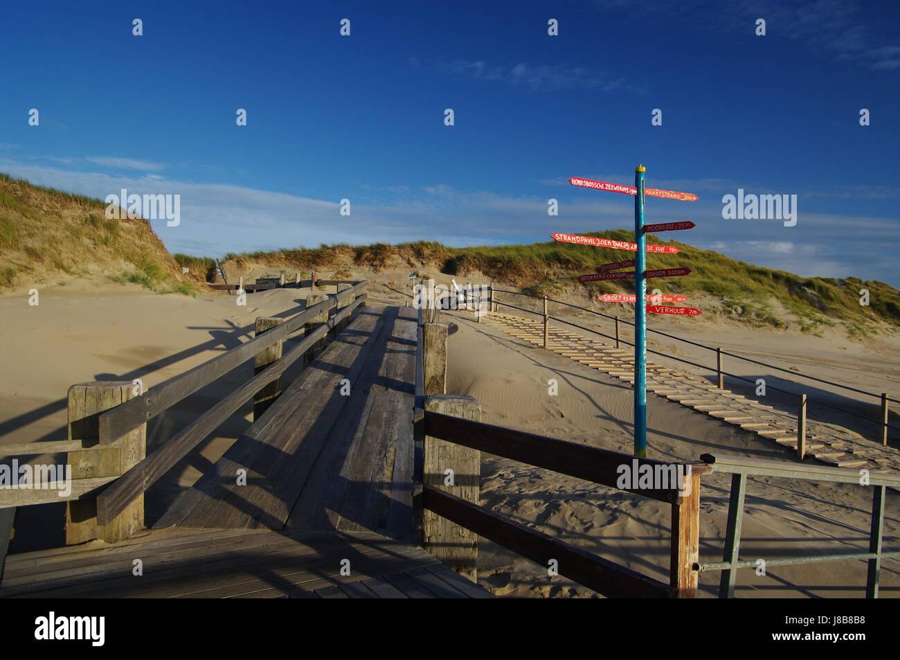 beach leaving schoorl aan zee,north holland Stock Photo