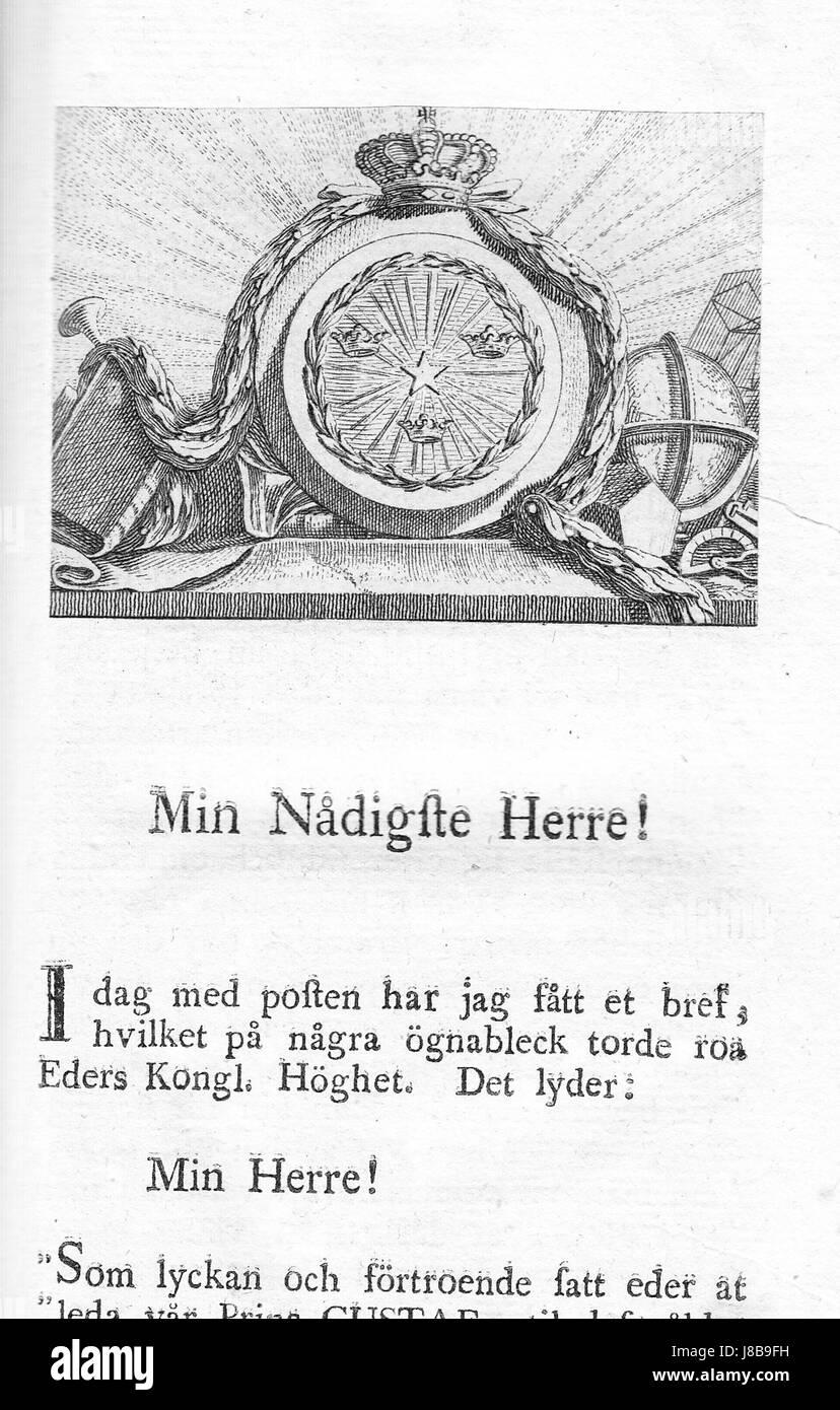 En gammal mans utvalda bref 1786 - Stock Image