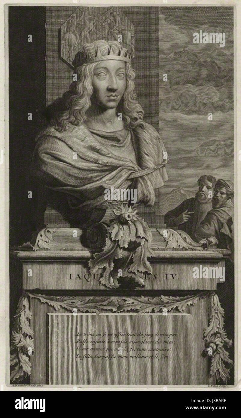 James IV of Scotland by Gerard Valck, after Adriaen van der Werff - Stock Image