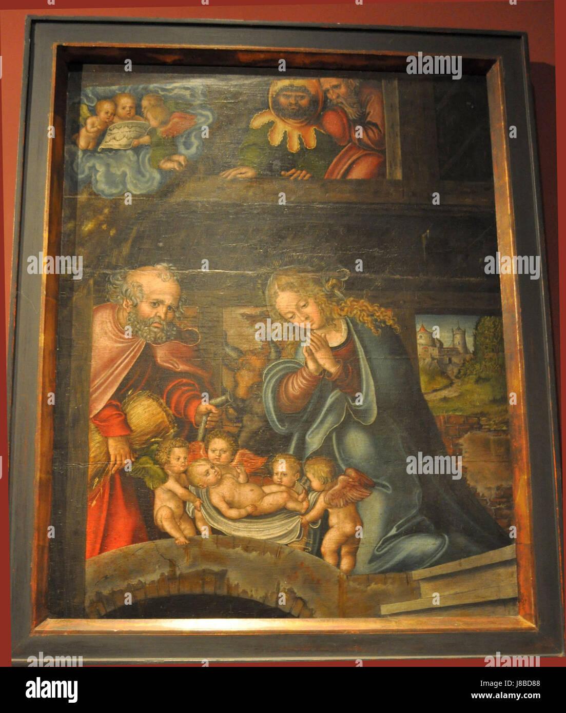 Lucas Cranach Geburt Christi 02 - Stock Image