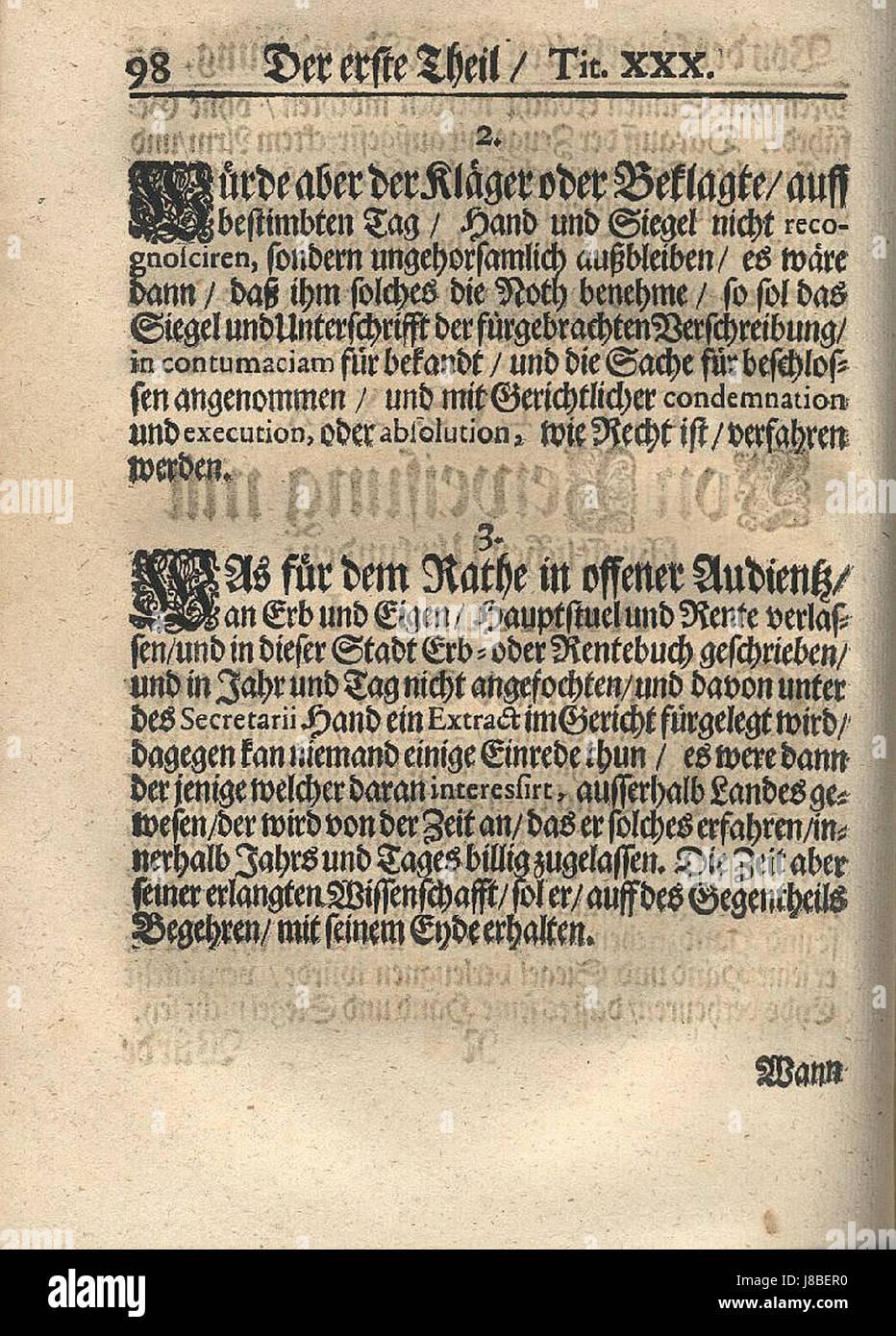 Der Stadt Hamburg der stadt hamburg statuta 106 stock photo 142853284 alamy