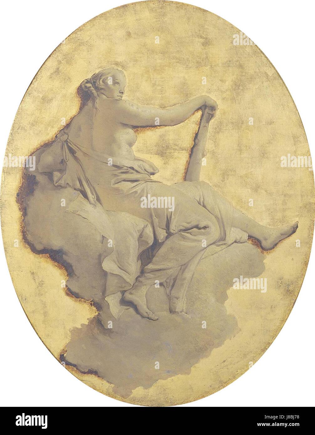 Giovanni Battista Tiepolo   Allegorische vrouwenfiguur met een knots - Stock Image