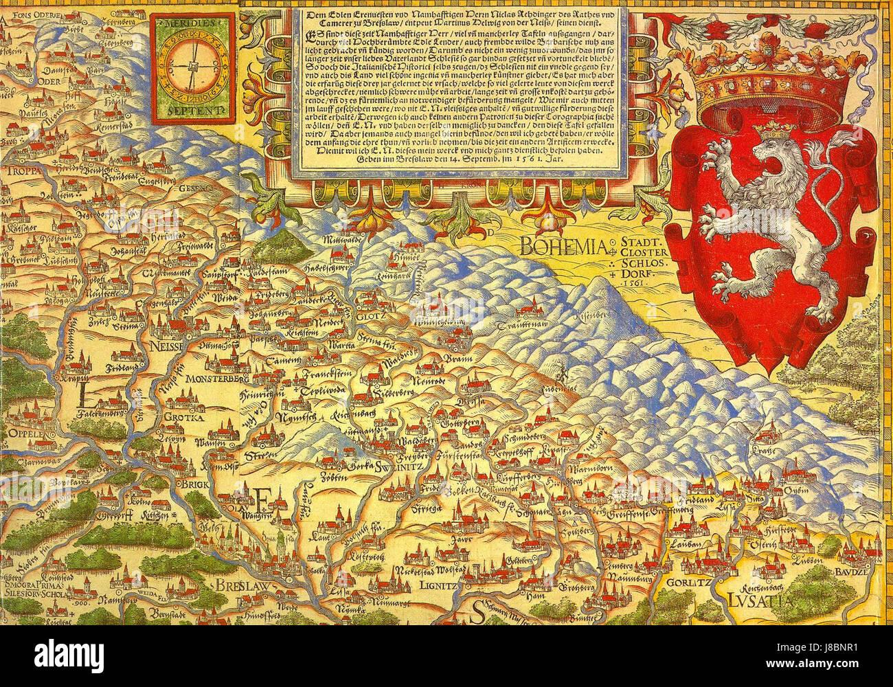 Landkarte Von Schlesien Stock Photo 142858773 Alamy