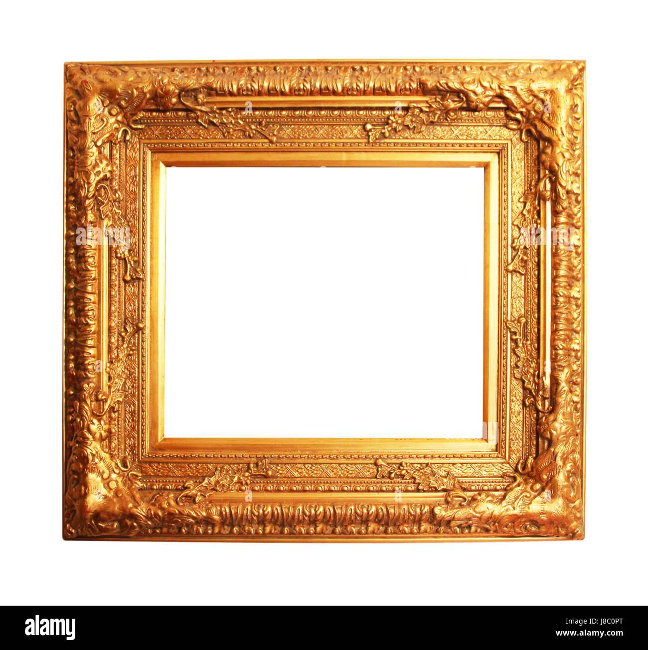 art, wood, gold, frame, framework, detail, inside, art, isolated ...