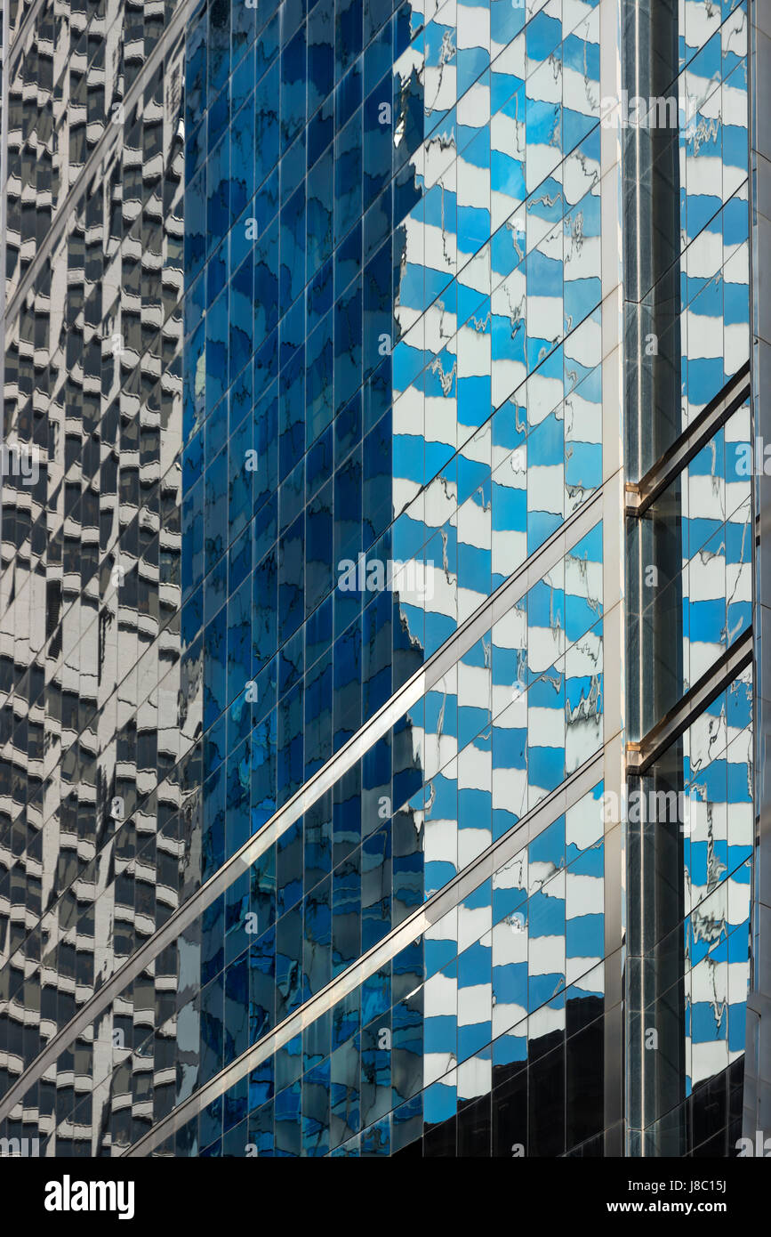 Reflection of buildings downtown Chicago USA - Stock Image