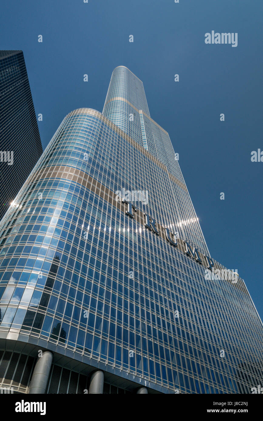 Trump Tower Chicago USA - Stock Image