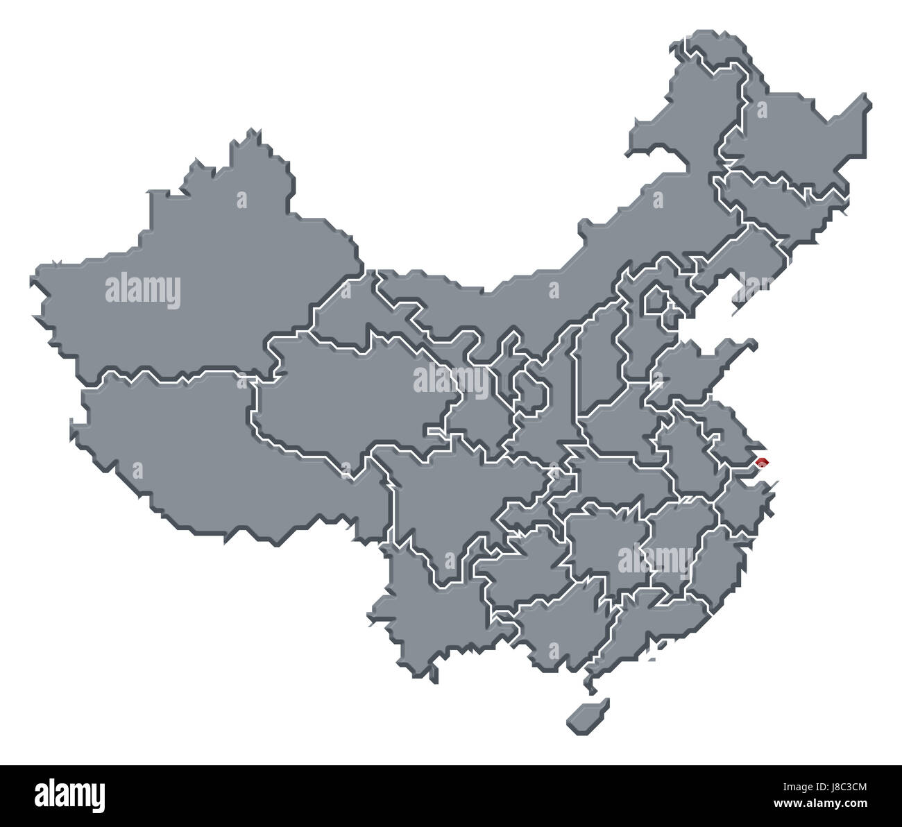 Shanghai China Map Cut Out Stock Images & Pictures - Alamy