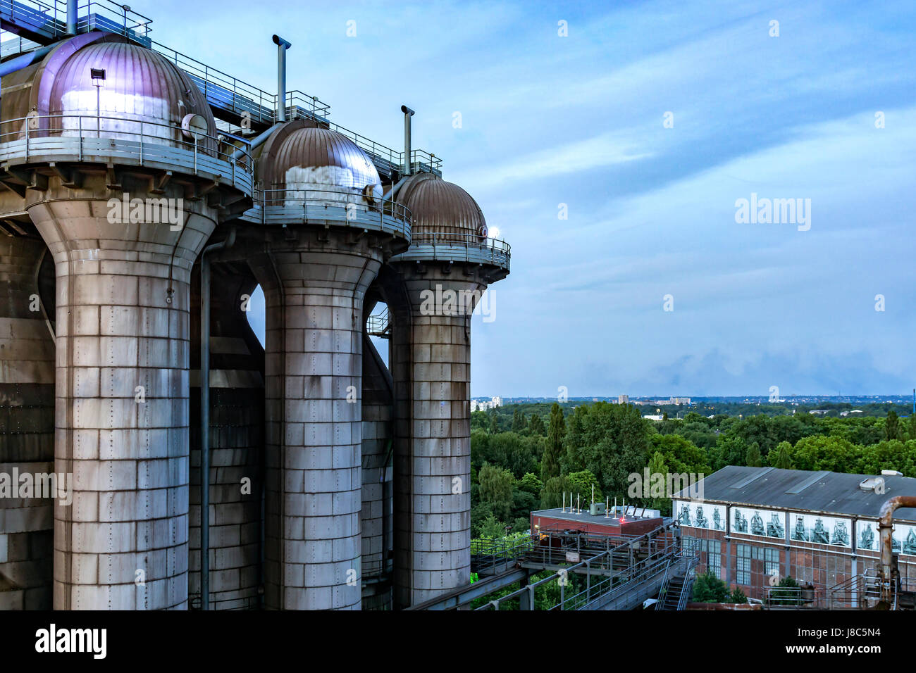 Essen Zollverein industrial monument Unesco world heritage. The picture shows a coke oven plant tower. - Stock Image