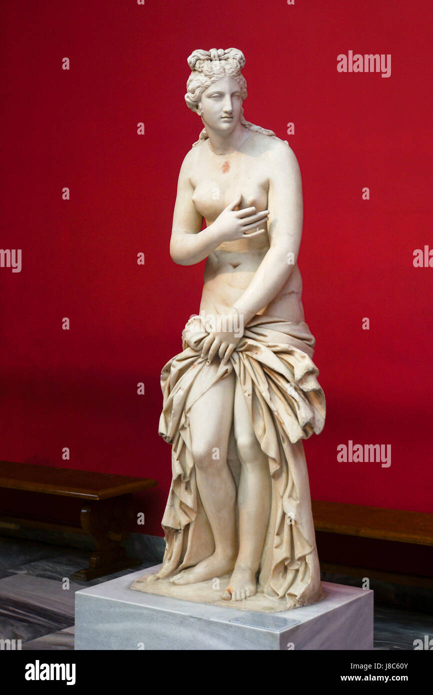 Marble statue of Aphrodite Godess love and beauty, National Archaeology Museum, Greece, Athens - Stock Image