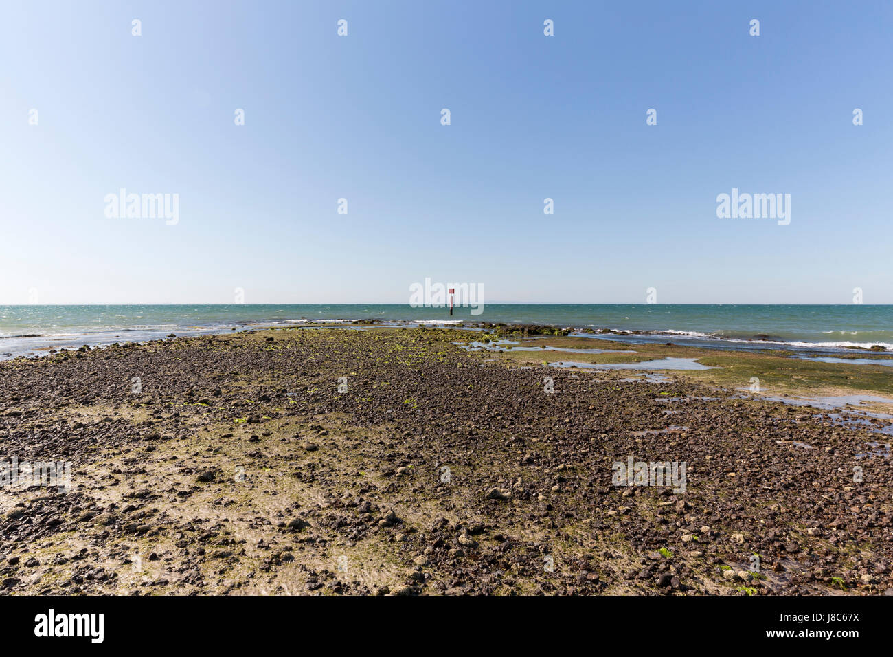 Beach with muds. - Stock Image