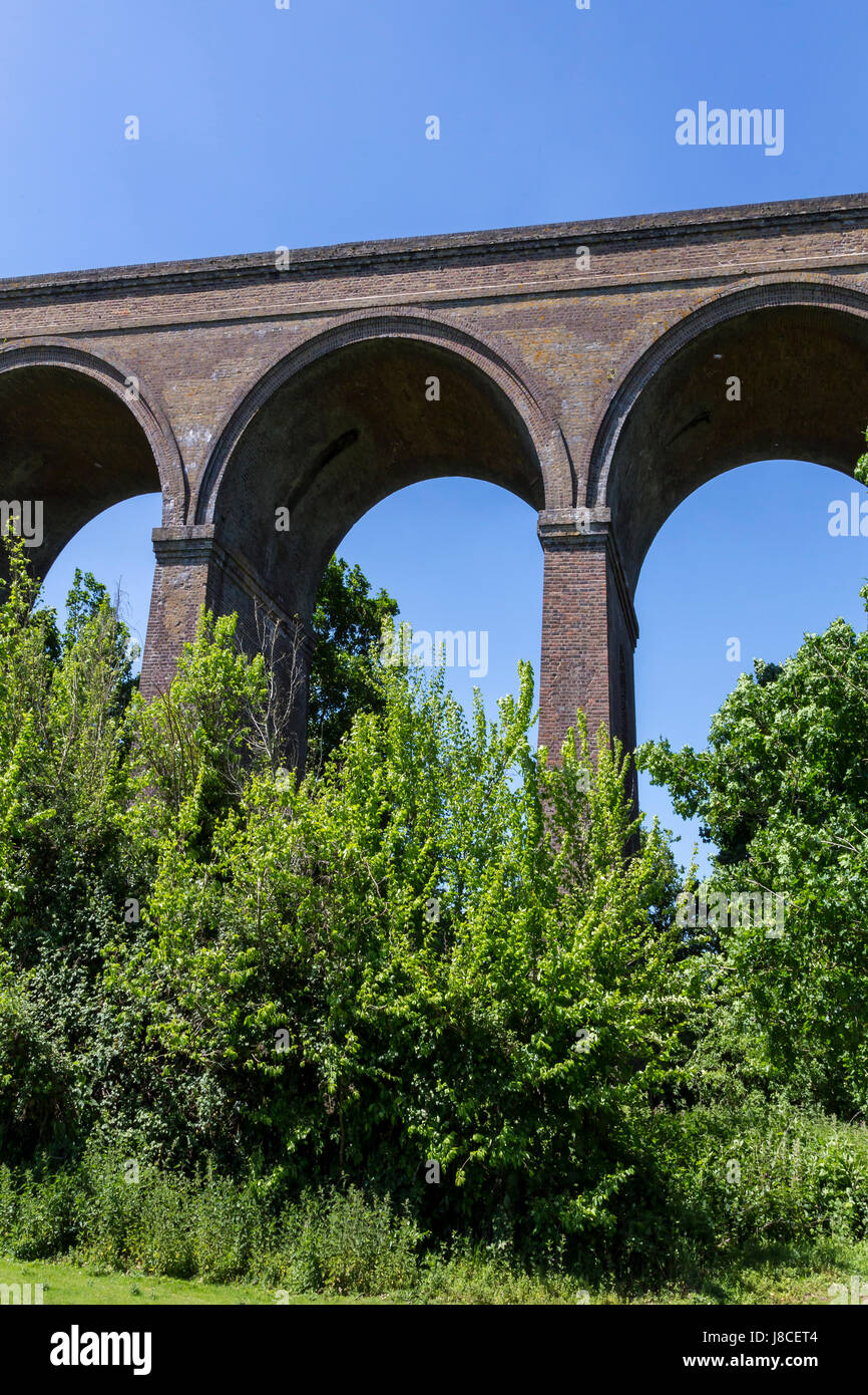 CHAPPEL VIADUCT IN THE COLNE VALLEY NEAR COLCHESTER - Stock Image