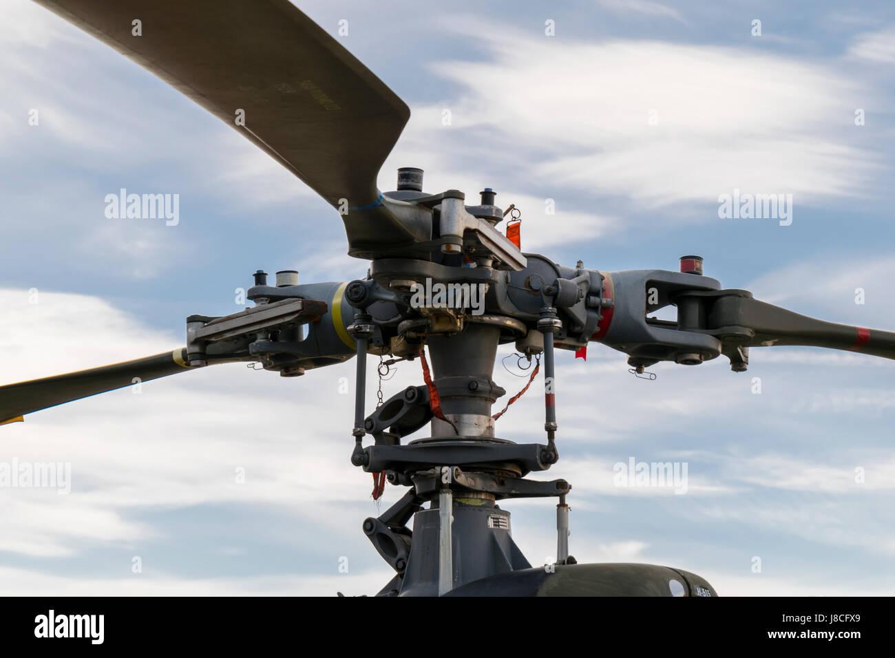 Gazelle Rotor blade hub - Stock Image