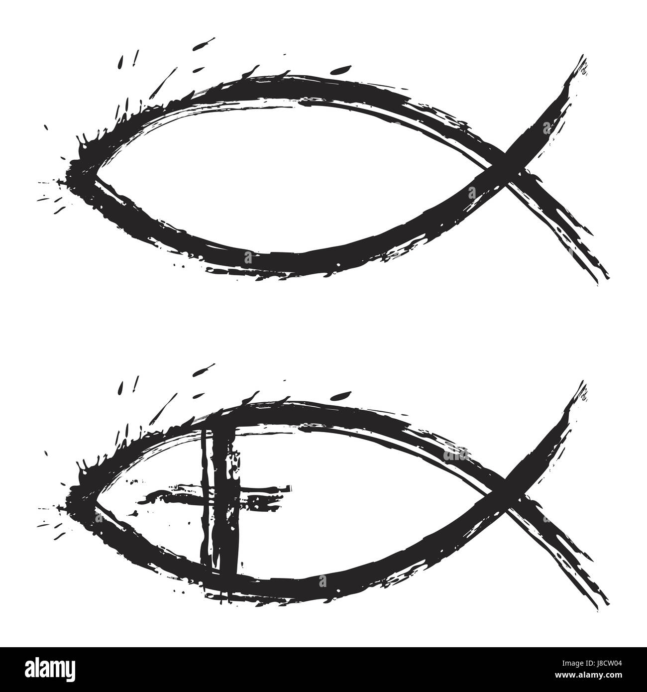 Ichthus Fish Symbol Stock Photos Ichthus Fish Symbol Stock Images
