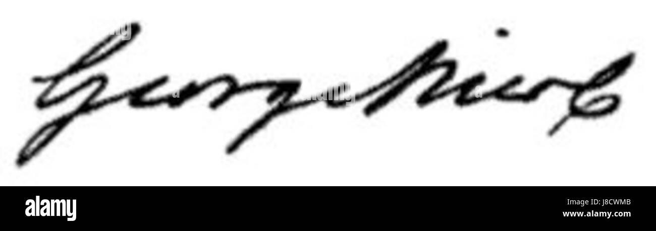 George nicol signature - Stock Image