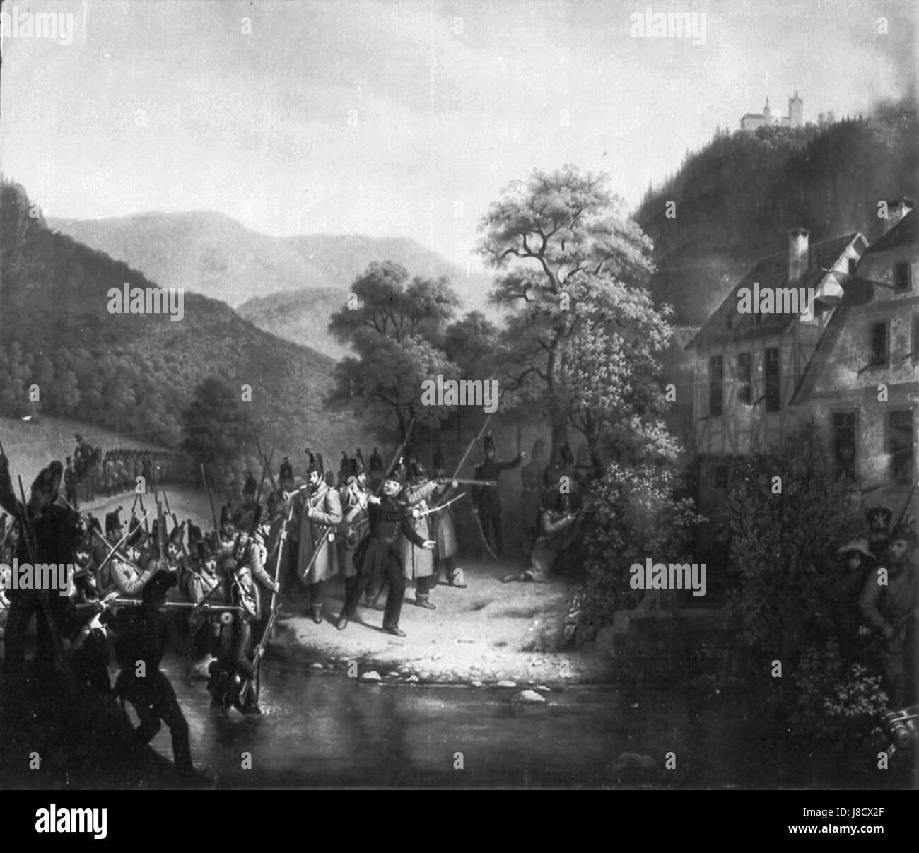 Gefecht in Gernsbach - Stock Image