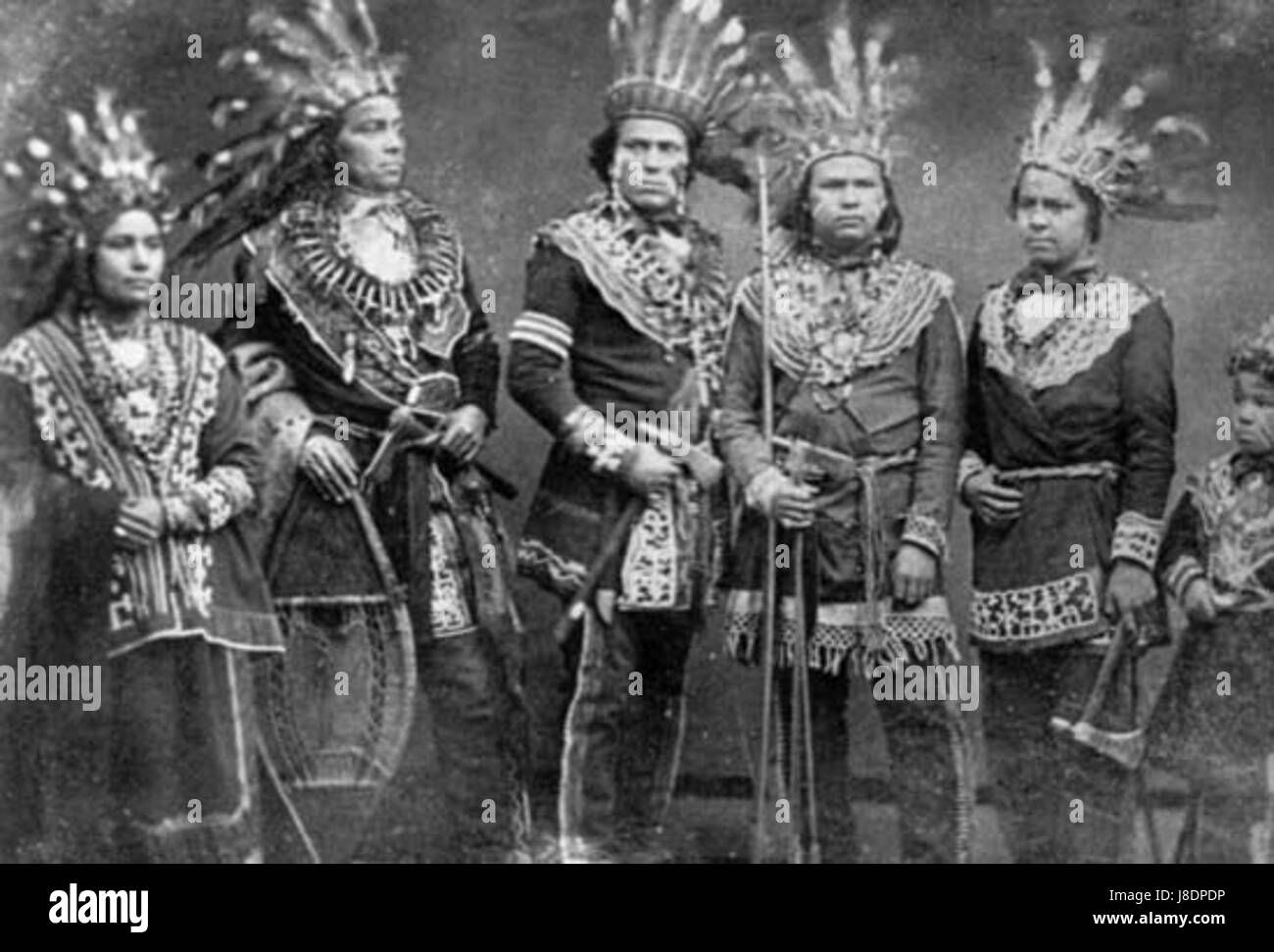 Hombres ojibwe - Stock Image