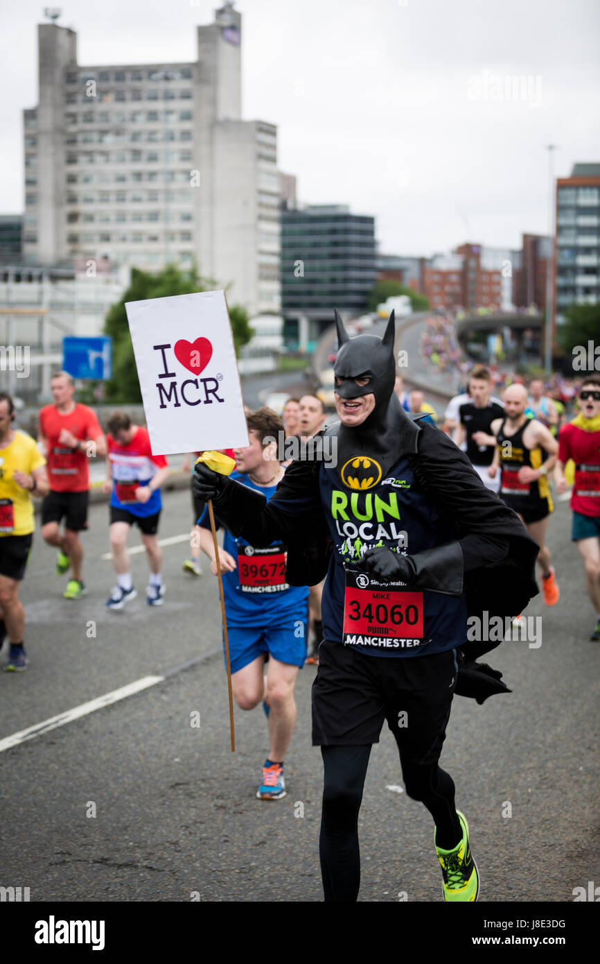 Manchester, UK. 28th May, 2017. The Simplyhealth Great Manchester Run returns for its 15th year, with up to 30,000 - Stock Image
