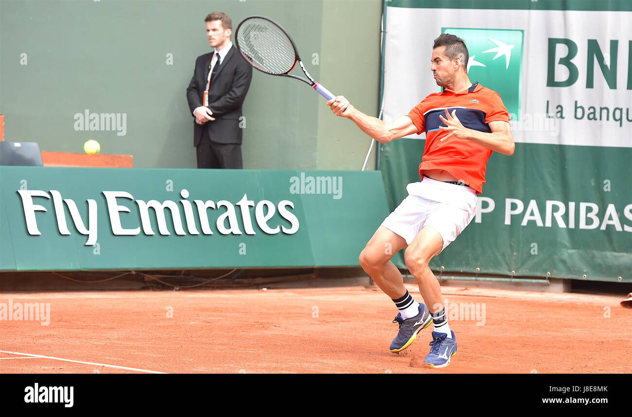 Tennis, Paris, 28.05.2017, Roland Garros, first turn French Open 2017, Guillermo Garcia-Lopez (ESP) Photo: Cronos/Frederic - Stock Image